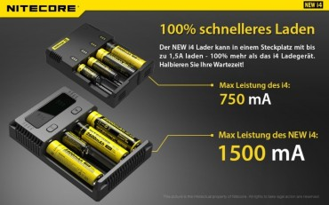 NiteCore Intellicharge NEW i4 – Bild 4