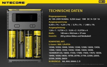 NiteCore Intellicharge NEW i4 – Bild 12