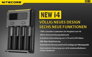 NiteCore Intellicharge NEW i4 – Bild 2
