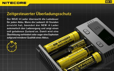 NiteCore Intellicharge NEW i4 – Bild 6